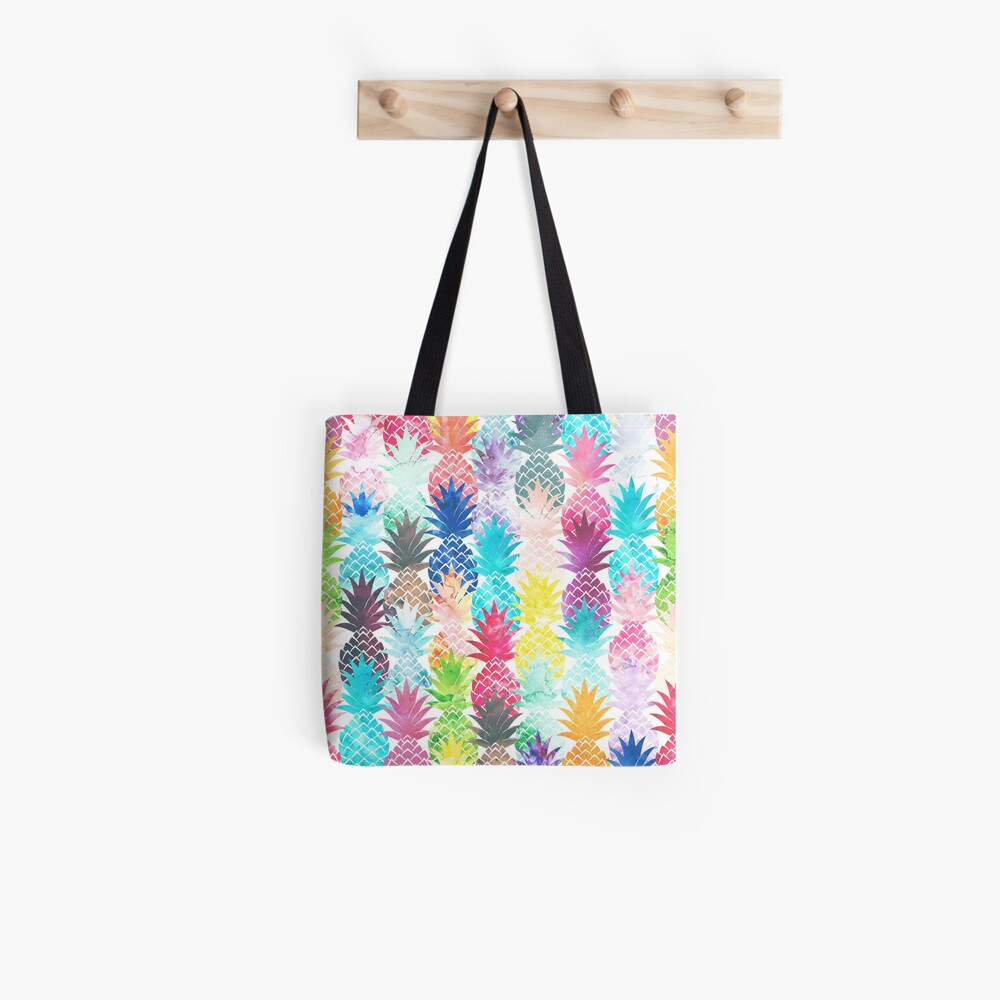 Hawaiisches Ananas-Muster-tropisches Aquarell Tote Bag
