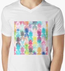 Hawaiian Pineapple Pattern Tropical Watercolor T-Shirt