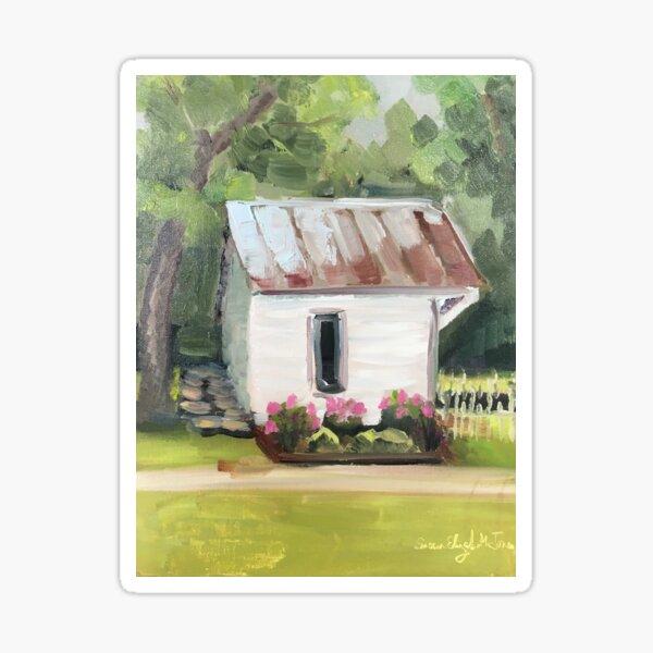Smokehouse at Crook Peony Farm Sticker