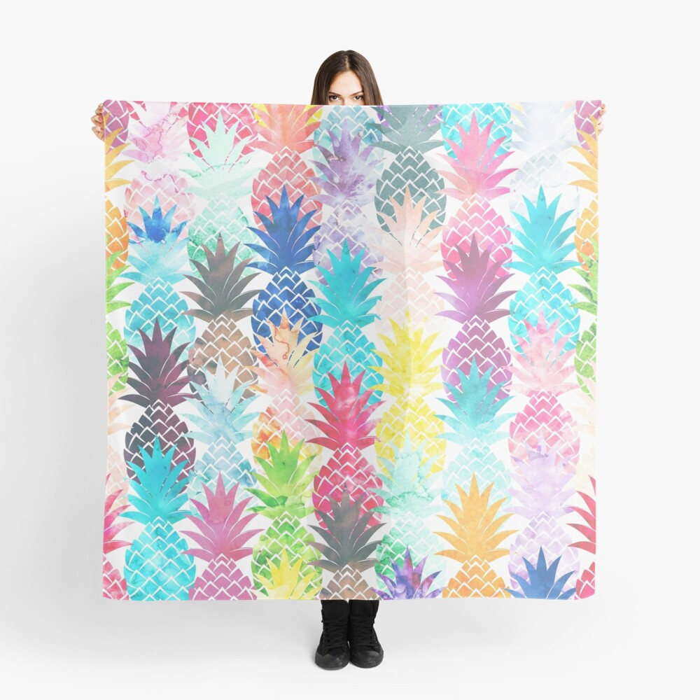 Hawaiisches Ananas-Muster-tropisches Aquarell Tuch