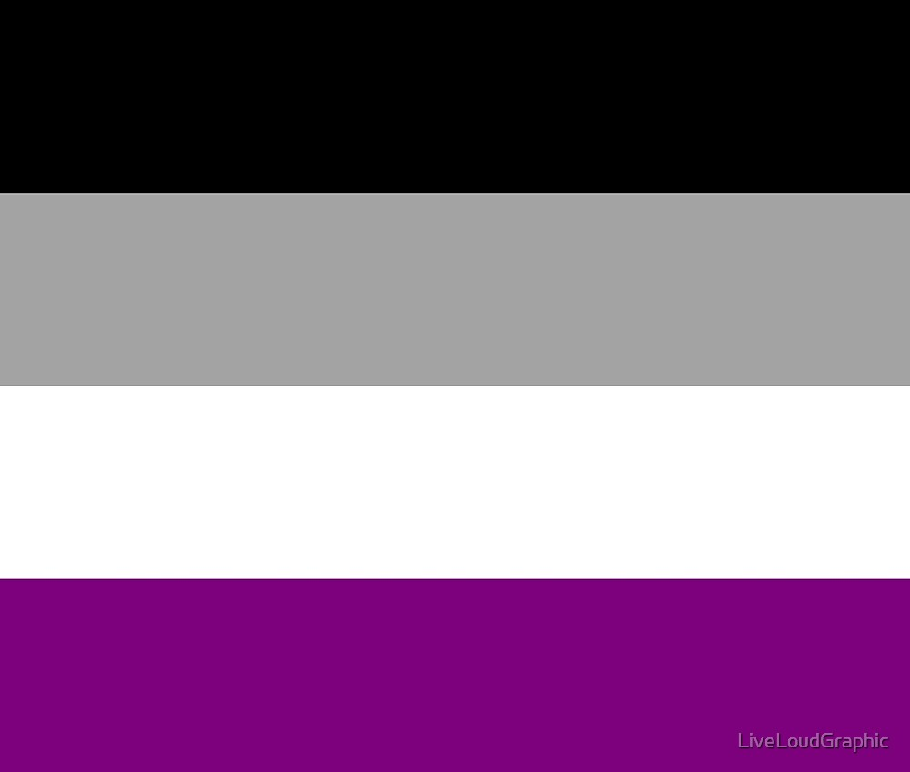Asexual Pride Flag by LiveLoudGraphic