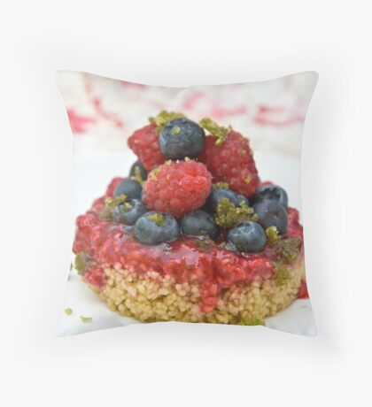 Dessert with berries Throw Pillow