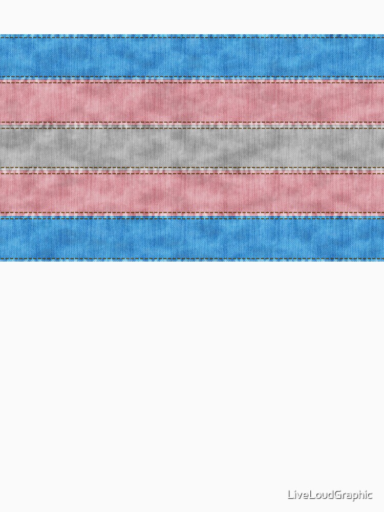 Transgender Denim Flag by LiveLoudGraphic