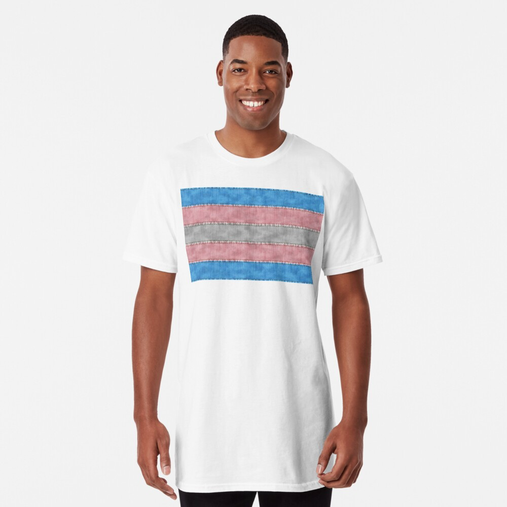 Transgender Denim Flag Long T-Shirt
