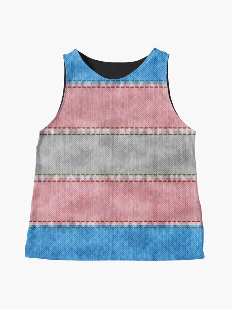 Alternate view of Transgender Denim Flag Sleeveless Top