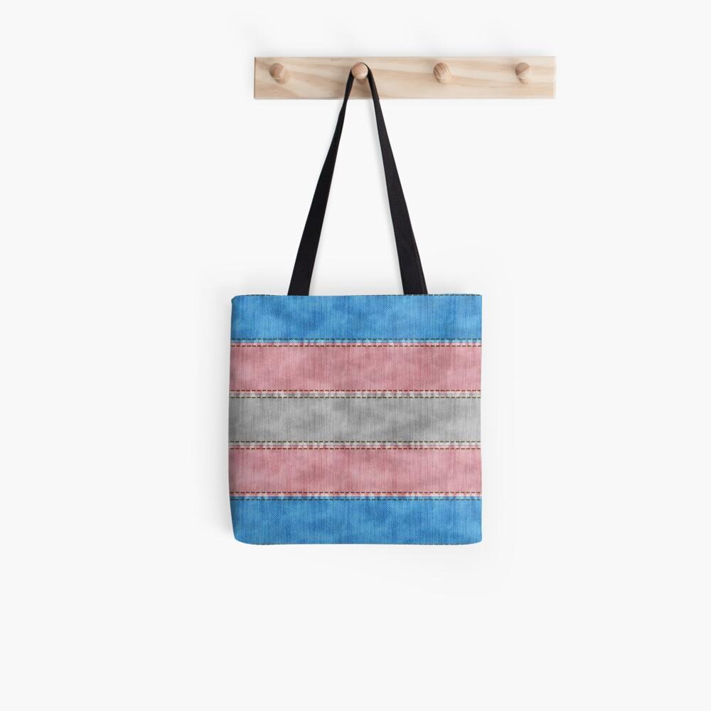 Transgender Denim Flag Tote Bag