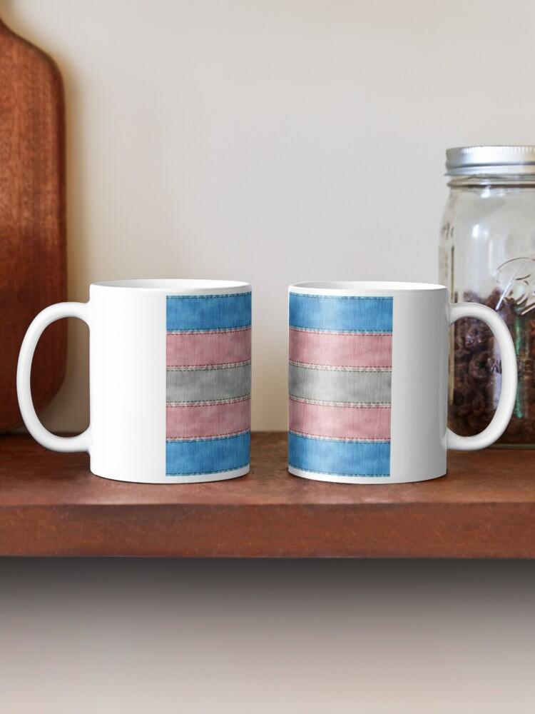Alternate view of Transgender Denim Flag Mug