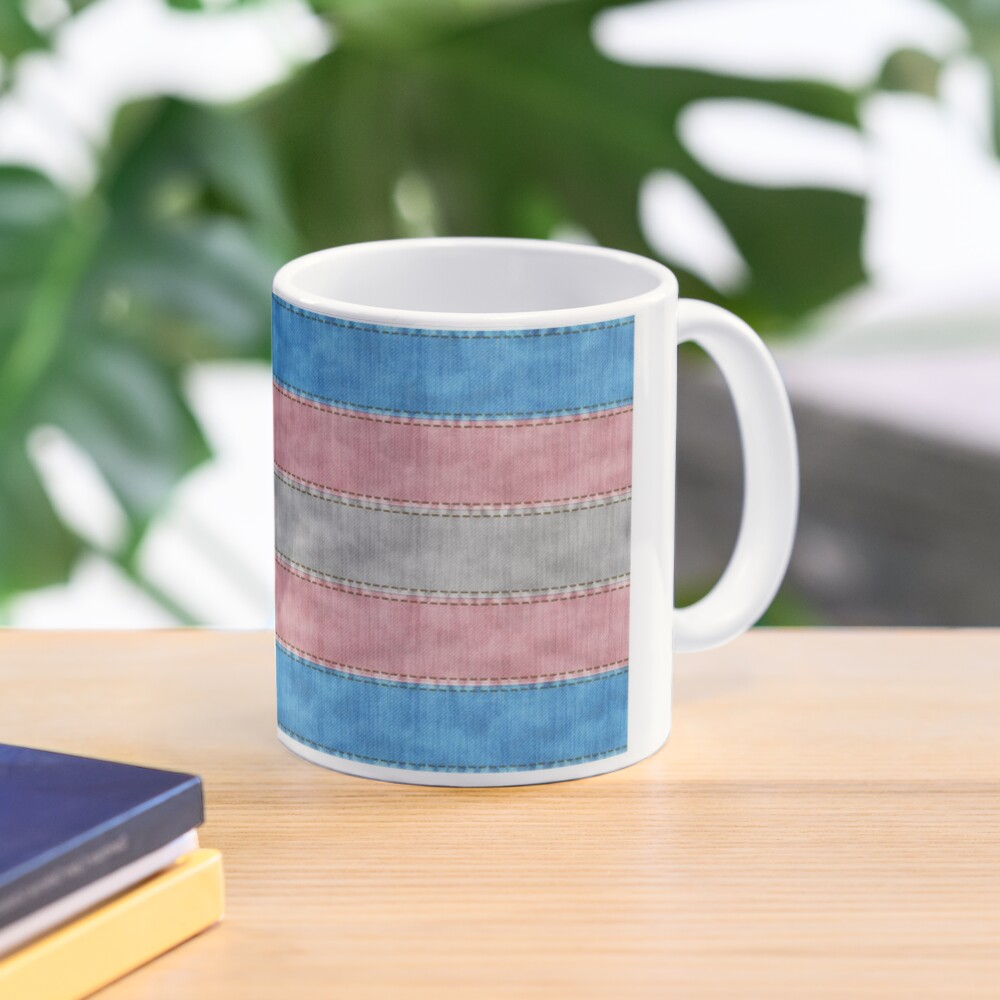 Transgender Denim Flag Mug