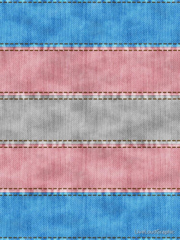 Transgender Denim Flag by LiveLoudGraphic