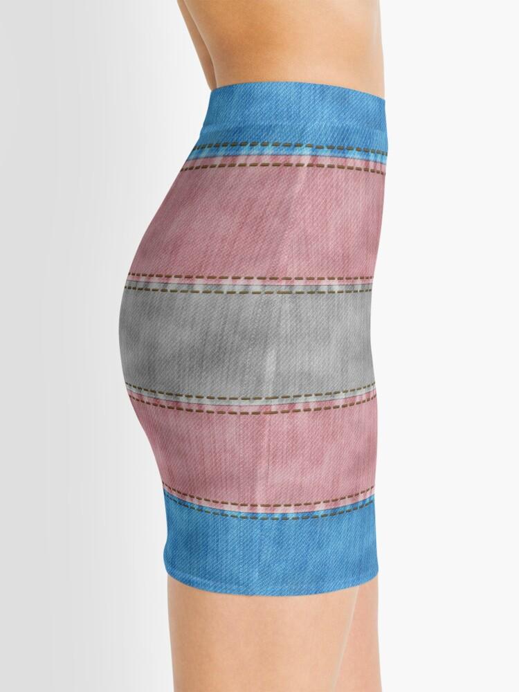 Alternate view of Transgender Denim Flag Mini Skirt
