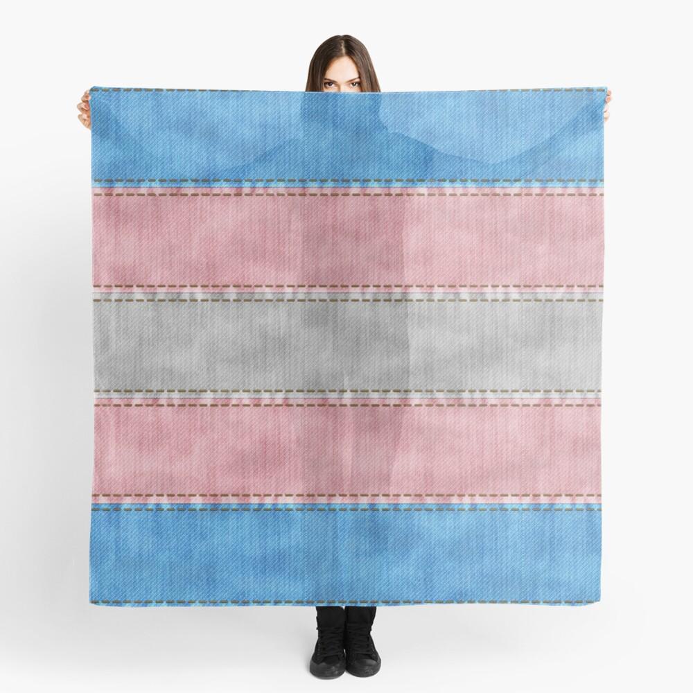 Transgender Denim Flag Scarf
