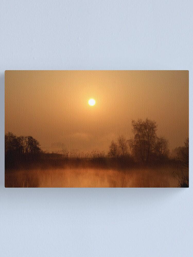 Alternate view of Heron lake  Canvas Print