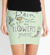 Rain Will Make The Flowers Grow Mini Skirt