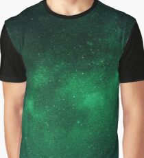 Dark Green Universe Graphic T-Shirt