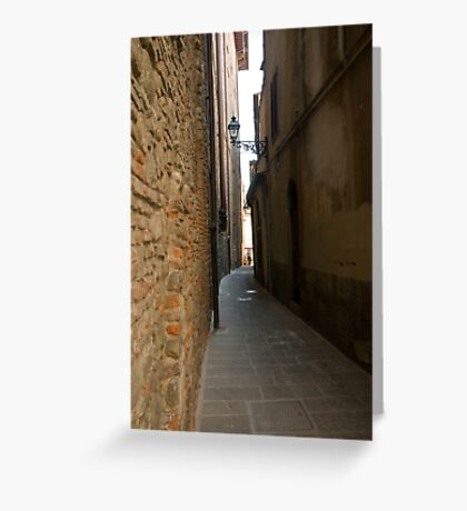 street in Pistoia in Tuscany, Italy Greeting Card