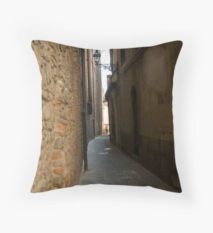 street in Pistoia in Tuscany, Italy Throw Pillow
