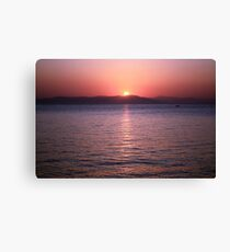 Aegean Sunrise Canvas Print