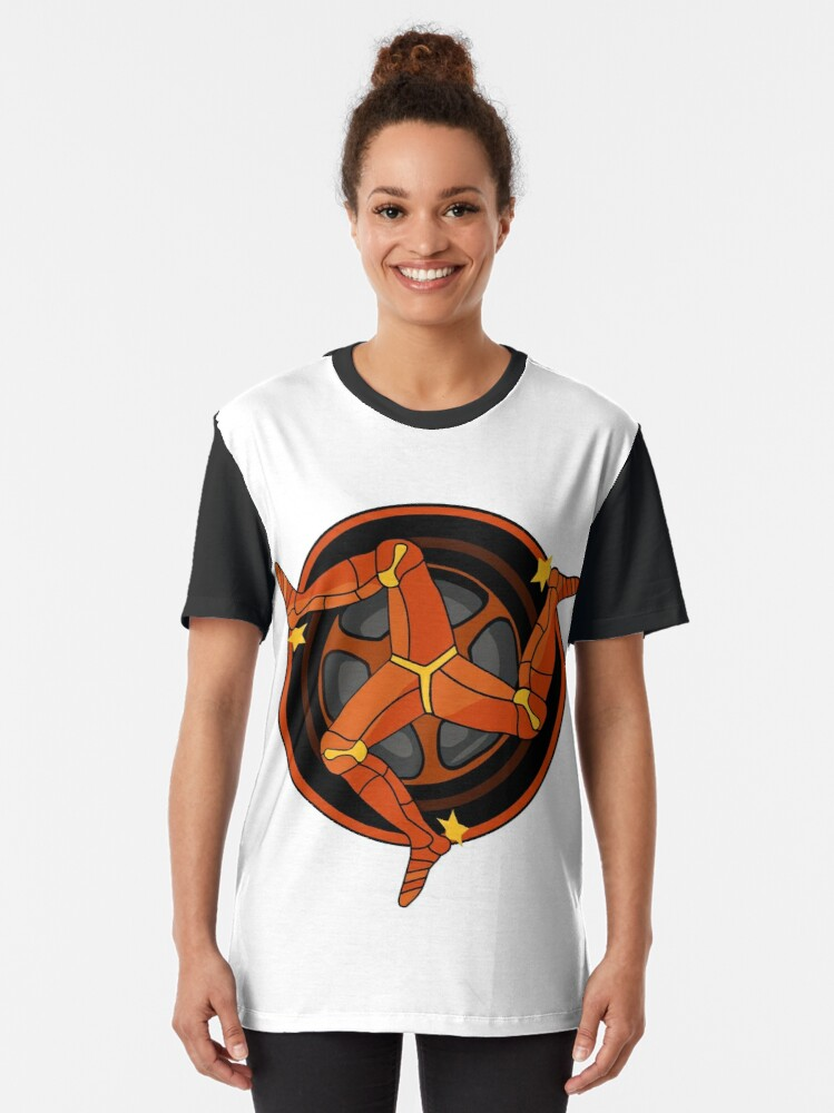 Alternate view of 3 Legs Rolling IOM Graphic T-Shirt