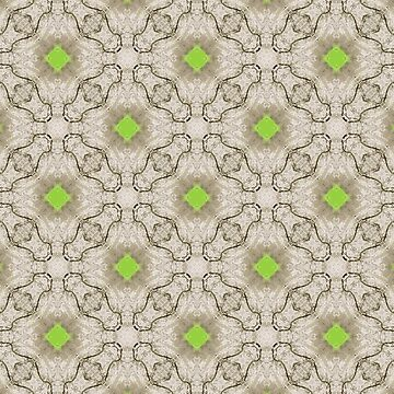 Green and White Geometric Shapes by karmcg
