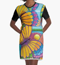 butterflight Graphic T-Shirt Dress