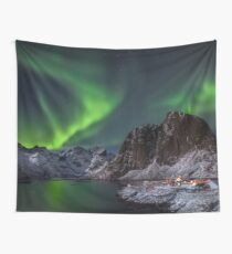 Hamnoy Lights Wall Tapestry