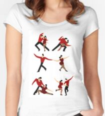salsa dancers Women's Fitted Scoop T-Shirt