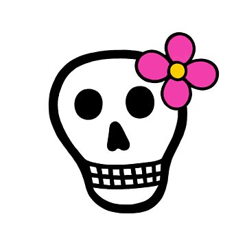 Flower Power Skull by painteduniverse