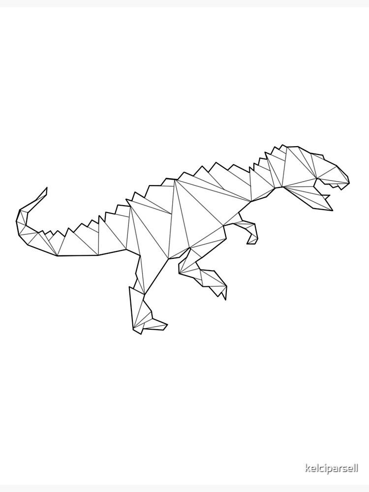 Tarjetas De Felicitacion Dinosaurio Geometrico Del Allosaurus De Kelciparsell Redbubble Descarga gratis este vector de colección de dinosaurios geométricos en diseño plano y descubre más de 9 millones de recursos gráficos en freepik. redbubble