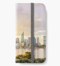 Afternoon City Glow, South Perth, Perth iPhone Wallet/Case/Skin