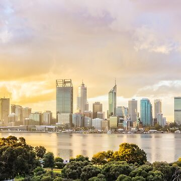 Afternoon City Glow, South Perth, Perth by MADCAT