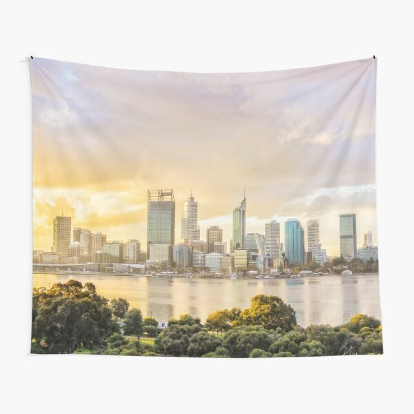 Afternoon City Glow, South Perth, Perth Tapestry