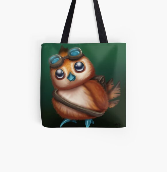 Pepe with Goggles All Over Print Tote Bag
