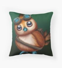 Pepe with Goggles Throw Pillow