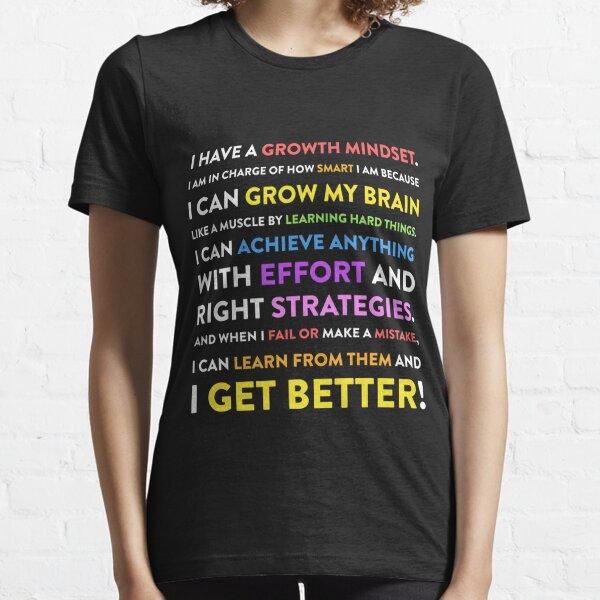 Growth Mindset Classroom Teacher Grow My Brain Gift  Essential T-Shirt