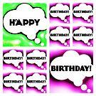 Happy birthday Greetings Card by Nick J  Shingleton