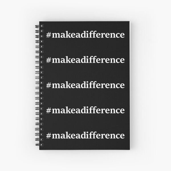 #makeadifference Spiral Notebook