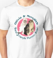 Olivia & Meredith - Best Friends Purrrr-ever Unisex T-Shirt