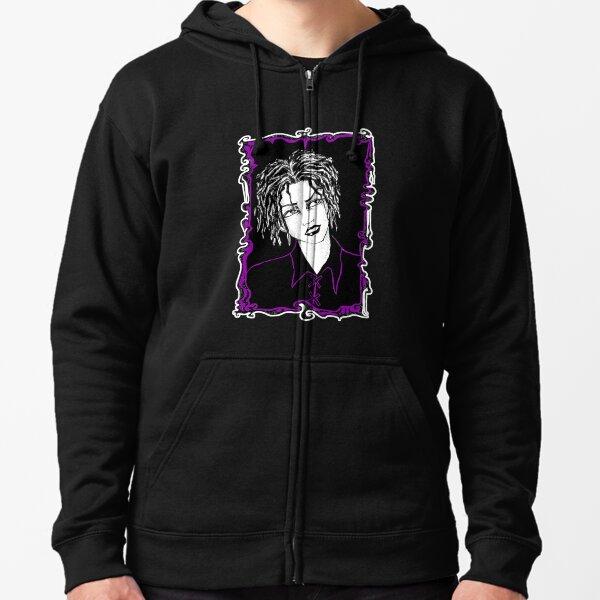 Oldschool Goth Boi - Purple Colorway Zipped Hoodie