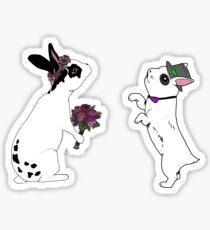 Bunny Bride & Groom Sticker