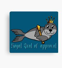 Royal Seal of Approval Canvas Print