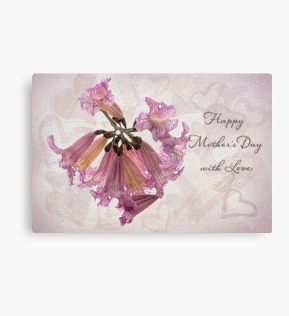 Hearts & flowers for Mother's Day Canvas Print