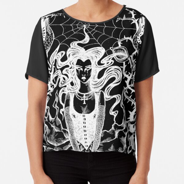 Unspeakable Things Cover - Issue - Black Version Chiffon Top
