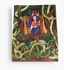 Entangle- Tiefling Druid Canvas Print