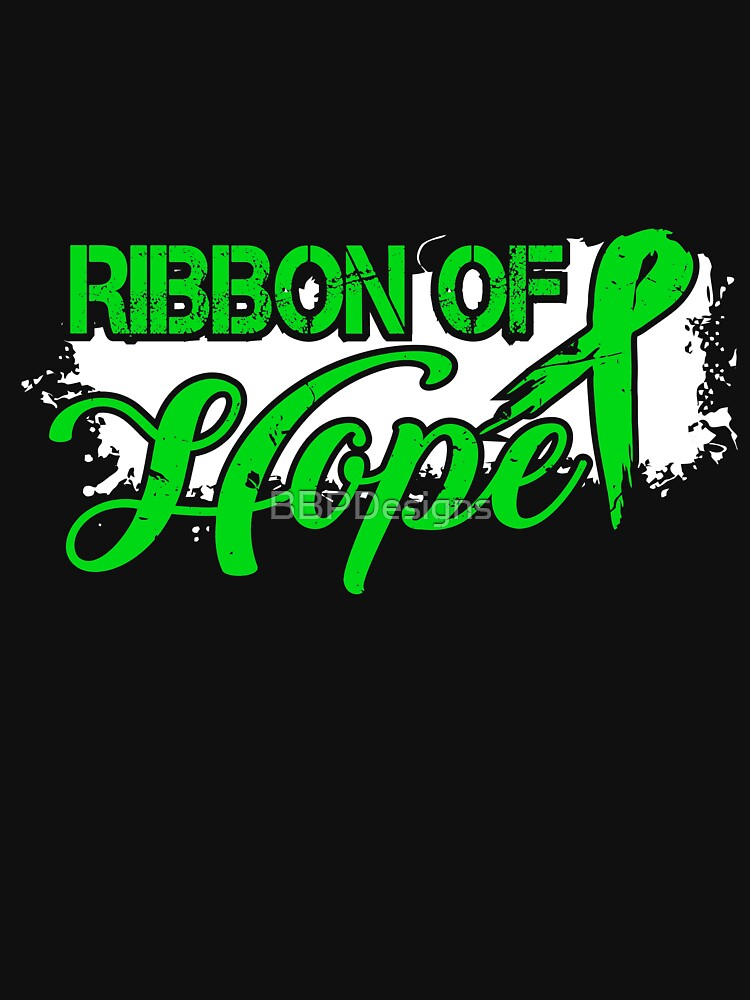 Ribbon Of Hope Adrenal Cancer Awareness T-Shirt by BBPDesigns