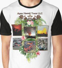 Apau Hawaii Tours - Lava Day Cycle Huddle Graphic T-Shirt