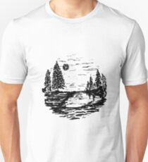 Sketch 80 - Ink Landscape Unisex T-Shirt