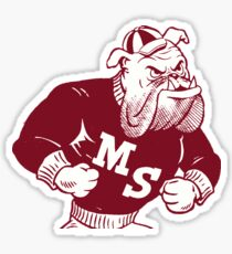 Retro State Maroon Sticker