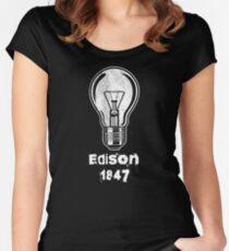 Thomas Edison 1847 Women's Fitted Scoop T-Shirt