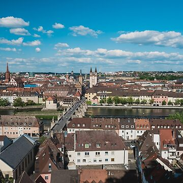 Aerial view of the historic city of Wurzburg by dvoevnore