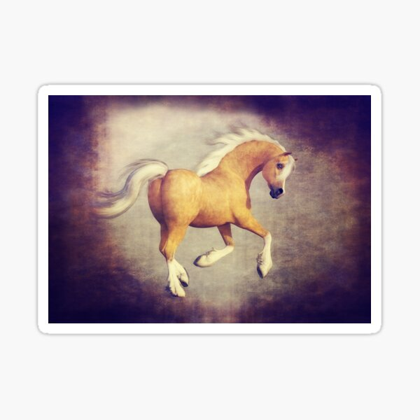 The Prancing Palomino Horse Sticker